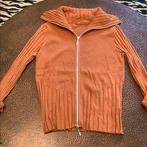 Authentic Belldini rust zip sweater!!!